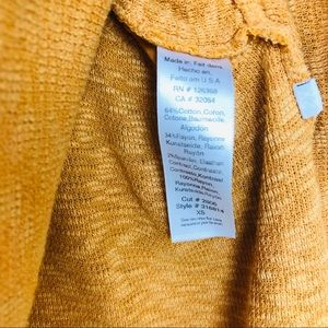 Anthropologie Tops - Left Of Center Yellow Mustard Blouse Oversized XS